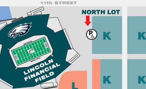 Lincoln Financial Field Map Pro Shop Parking   Lincoln Financial Field